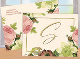 (sku123) blush roses folded note card | thank-you card | bridesmaid or hostess gift - Best Welcome Bags