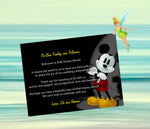 Mickey Mouse welcome note or thank you card invitation