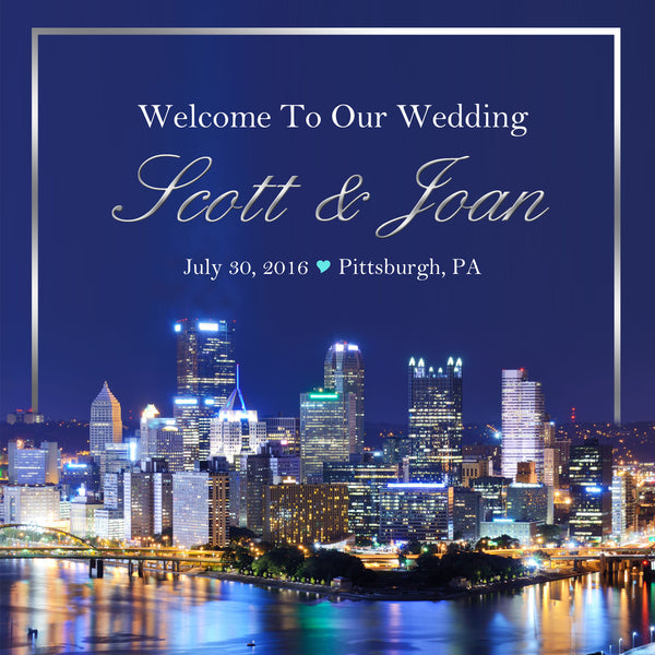 (sku560) Pittsburgh Wedding | Welcome Bag label | Gable box sticker | hotel gift tag - Best Welcome Bags