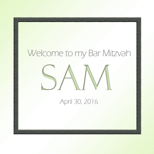 bar mitzvah label for favor or hotel guest welcome bag