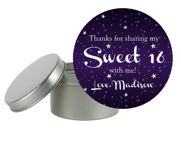 (sku274c) starry night round labels | goody bag label | lollipop sticker | mason lid | cookie - Best Welcome Bags