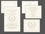 (sku110a) custom monogram printed note card | RSVP reply  | welcome note | thank-you card - Best Welcome Bags