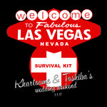 personalized Las Vegas survival kit label