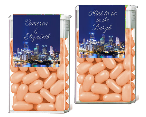 (sku563a) Pittsburgh wedding | TicTac container label |  Tic Tac wrapper | candy sticker - Best Welcome Bags