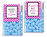 (sku721) Chevron TicTac label | bat mitzvah candy wrapper | Tic Tac container - Best Welcome Bags