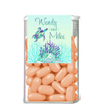 sea turtle tic tac mint container label 4 wedding favor goody bag