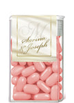 ivory gold monogram tic tac mint label 4 wedding favor gift bag