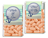 custom monogram on black damask Tic Tac mint container label