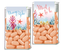 (sku412a) Ocean coral | TicTac container label | Tic Tac wrapper | wedding favor | candy sticker - Best Welcome Bags