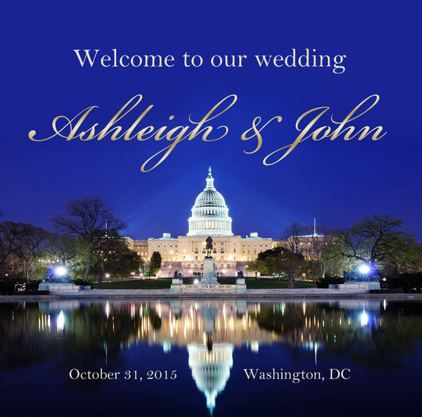 (sku528) Washington DC Wedding | Welcome Bag labels | Gable box stickers - Best Welcome Bags