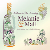 Custom winery wedding welcome bag label