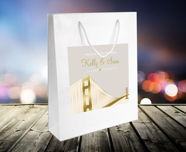 (sku492) San Francisco Wedding | Welcome Bags | hotel guests gift | party favor - Best Welcome Bags