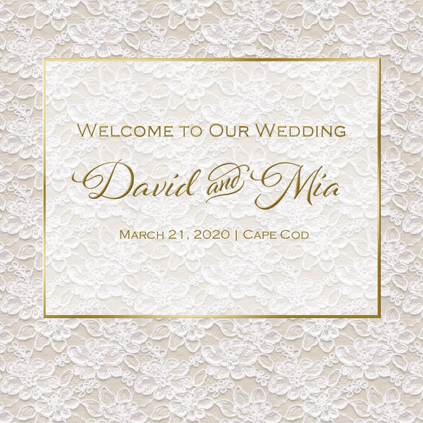 (sku280) Vintage gold lace | welcome bag label | hotel wedding guest welcome bag sticker - Best Welcome Bags