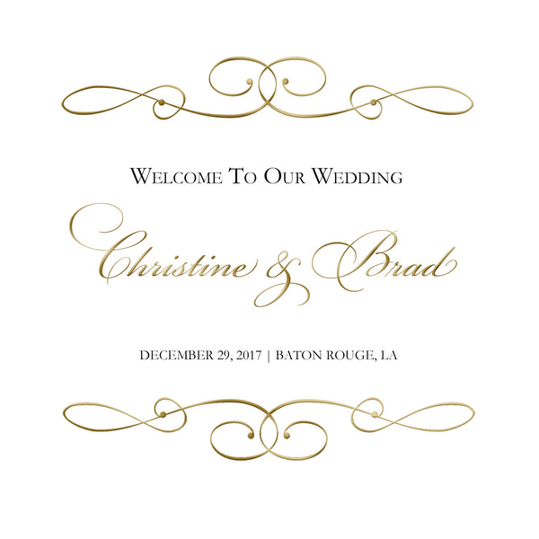 Any color simple wedding welcome bag labels 4 hotel guests