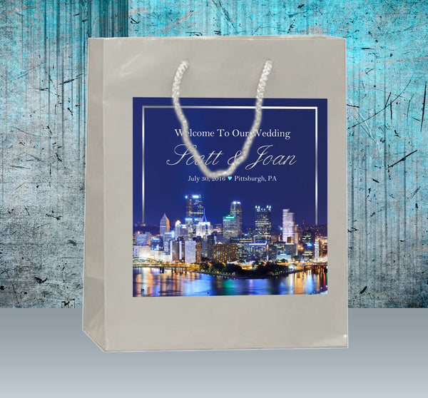 (sku561) Pittsburgh Wedding | Welcome Bags | hotel guest gift | goody bag | party favor - Best Welcome Bags
