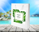 (sku461) wedding welcome bag | Giant monstera palm leaf | hotel guest gift | party favor - Best Welcome Bags
