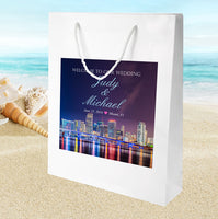 Miami City wedding welcome bag for hotel guest hospitality gift