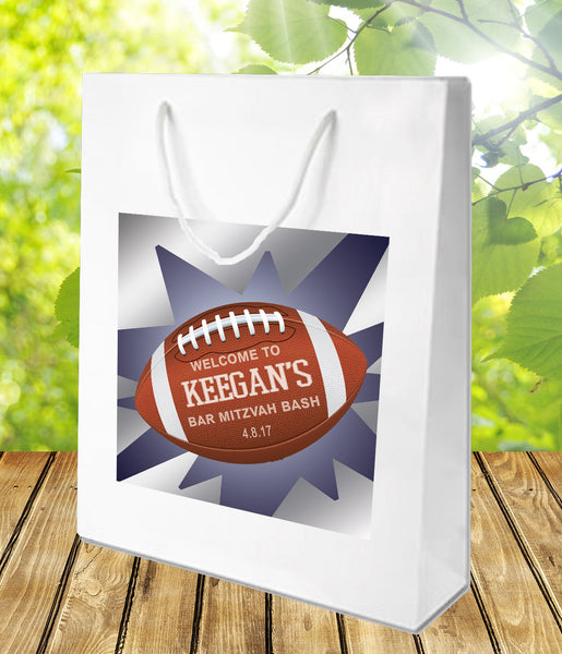 football birthday bar mitzvah party favor goody welcome bag
