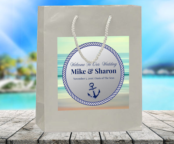 (sku481) Cruise ship wedding welcome bag | family reunion cruse goody bags - Best Welcome Bags