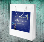 white gloss wedding welcome bag with Mickey and Tinkerbell