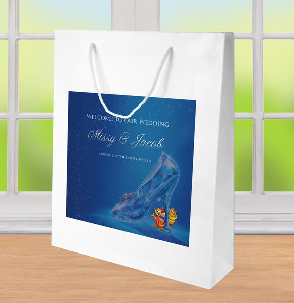 Disney's Cinderella's Glass Slipper wedding welcome bag