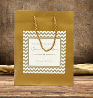 (sku191) any color chevron wedding welcome Bag | hotel guest gift bags | wedding favors - Best Welcome Bags