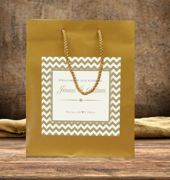 welcome bags | any color chevron | hotel guest hospitality bag