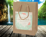 (sku415) Rustic palm | Welcome Bag | hotel wedding guests gift bags | Wedding favor - Best Welcome Bags