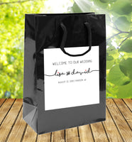 (sku292) Text with tails Wedding Welcome Bags | hotel guest gift bags | wedding favors