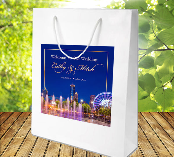 (sku549) Atlanta Wedding | Welcome Bags | hotel guest gift bags | party favor bag