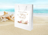 destination wedding welcome bag | seashell hotel guest gift bag