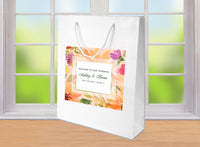 (sku071) Summer Wedding Welcome Bag | floral hotel wedding guest gift goody bag - Best Welcome Bags