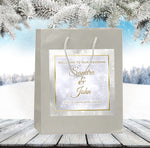 (sku369) winter wedding welcome bag | hotel guest gift bags | Snowflake party favor bags - Best Welcome Bags