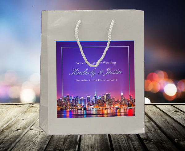 (sku510) New York City Wedding | Welcome Bag | hotel guest gift | party favor bag
