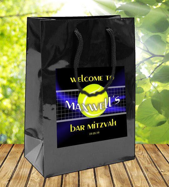 (sku751) Tennis goody bag | welcome bags | tennis party | hotel favor bag - Best Welcome Bags