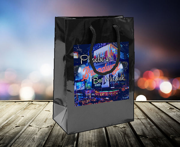 Broadway party bag 4 welcome favor goody 4 birthday bat mitzvah