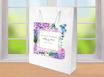 pink + purple hydrangea custom wedding welcome bags