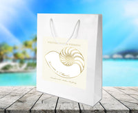 (sku447) Nautilus seashell | wedding welcome bag | beach destination | party favor bag - Best Welcome Bags