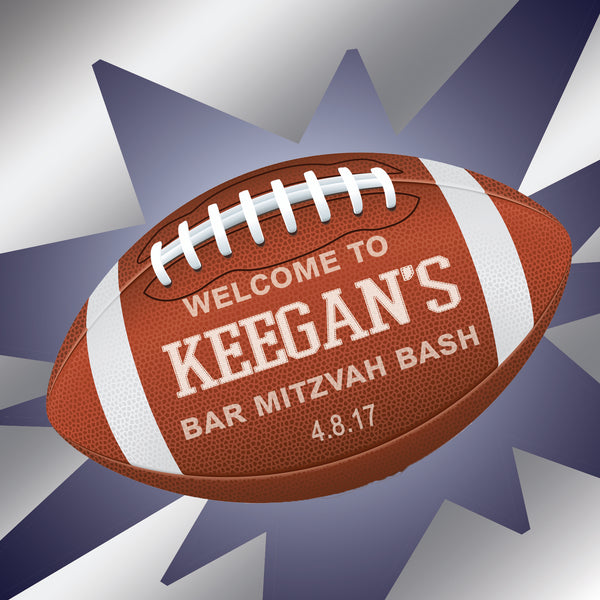 football bar mitzvah birthday goody favor or welcome bag label