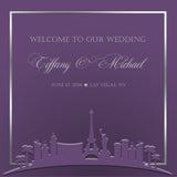 Pick your color Las Vegas skyline wedding welcome bag label