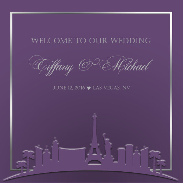 (sku543) Las Vegas Welcome Bag label | Gable box sticker | Any color | Wedding favor tag - Best Welcome Bags
