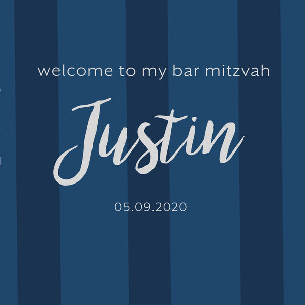 (sku770) Any color stripe bag labels | Gable box stickers | bar mitzvah | birthday goody bag - Best Welcome Bags
