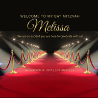 (sku711) Red Carpet welcome bag labels | gable box stickers | premiere birthday or mitzvah - Best Welcome Bags