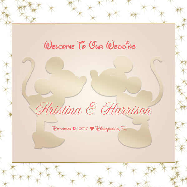 (sku638) Disney Castle Wedding Welcome Bag label | or Mickey wedding favor sticker - Best Welcome Bags