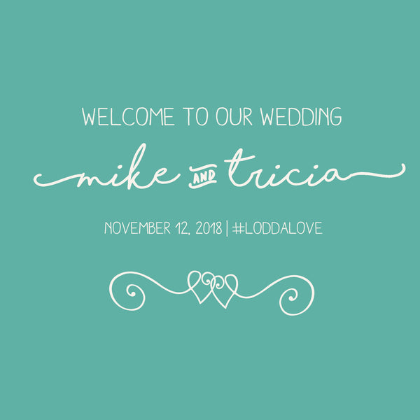 Any color | wedding welcome bag labels | Gable box stickers