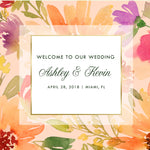 (sku070) Summer Wedding Welcome Bag label | hotel wedding guest goody bag sticker - Best Welcome Bags