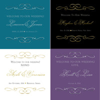 (sku225) select any color printed stationery | wedding itinerary | party invitation - Best Welcome Bags
