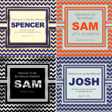 (sku724) Any color chevron custom Welcome Bags | mitzvah | wedding | birthday party