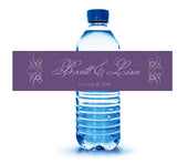 scroll water bottle label in any color