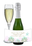 (sku390) mini champagne label | Destination wedding | mini wine bottle stickers - Best Welcome Bags